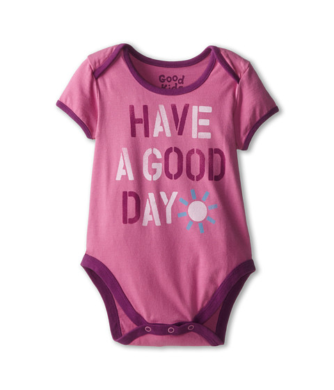 Life is good Kids - Have a Good Day One Piece (Infant) (Washed Plum) Girl