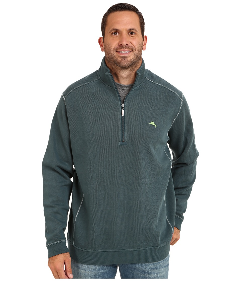 Tommy Bahama Big & Tall - Big Tall Antigua Half Zip Sweatshirt (Dragonfly Blue) Men's Sweatshirt
