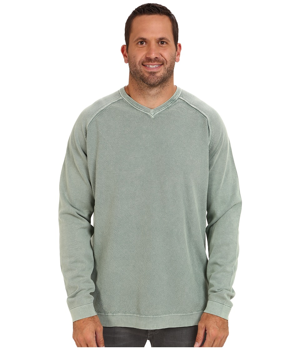 Tommy Bahama Big & Tall - Big Tall Pebble Bay V-Neck Sweater (Basalt) Men