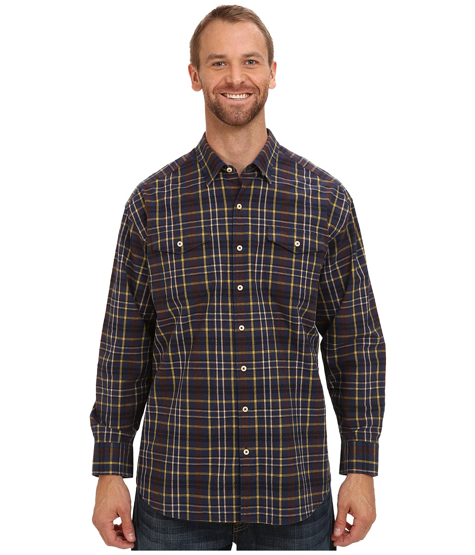 Tommy Bahama Big & Tall - Big Tall Calistoga Check L/S Shirt (Navy) Men's Long Sleeve Button Up