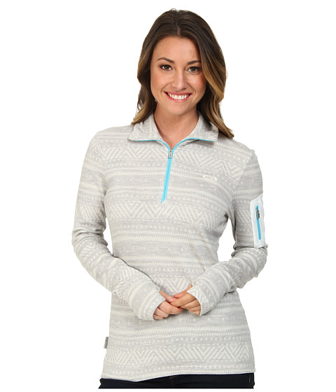 Icebreaker - Vertex Long Sleeve Half Zip (Snow/Glacier) Women's Clothing