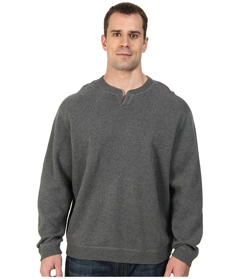 Tommy Bahama Big & Tall - Big Tall New Flip Side Pro Reversible Abaco Sweatshirt (Fog Grey Heather) Men's Sweater
