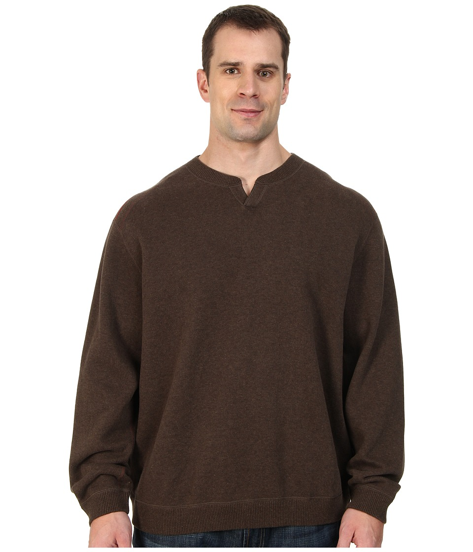 Tommy Bahama Big & Tall - Big Tall New Flip Side Pro Reversible Abaco Sweatshirt (Light Pure Chocolate Heather) Men's Sweater