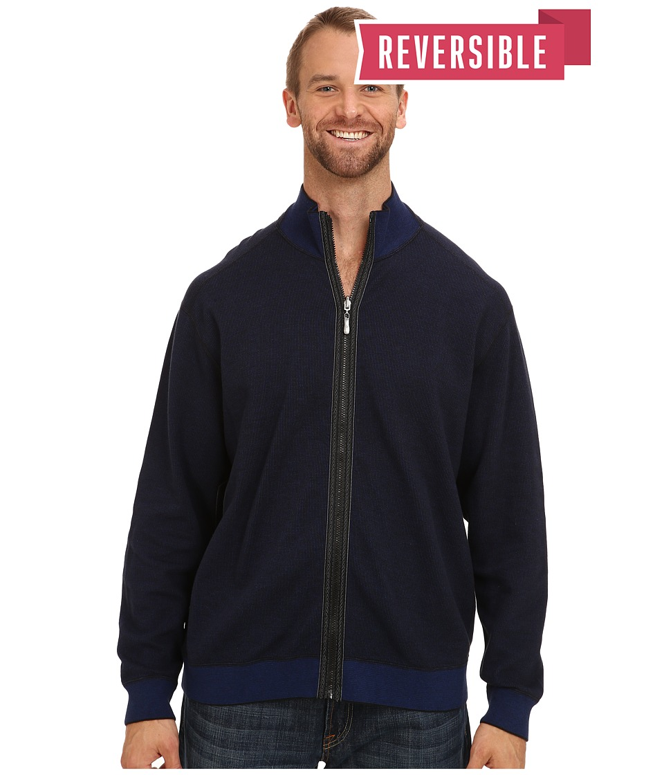 Tommy Bahama Big & Tall - Big Tall Into Overdrive Reversible Full Zip Jacket (Black) Men