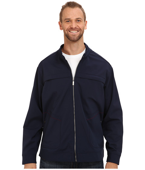 Tommy Bahama Big & Tall - Big Tall Ace Driver Zip Jacket (Navy) Men