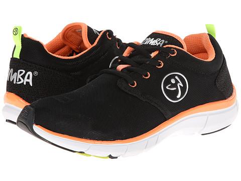 Zumba - Zumba Fly Print (Black/After Glow) Women's Shoes