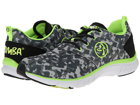 Zumba - Zumba Fly Print (Black/Grey/Yellow) Women's Shoes
