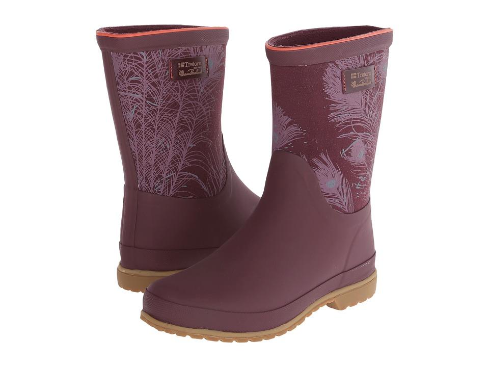 Tretorn - Elsa - Florence Broadhurst (Crush Violet) Women's Rain Boots plus size,  plus size fashion plus size appare