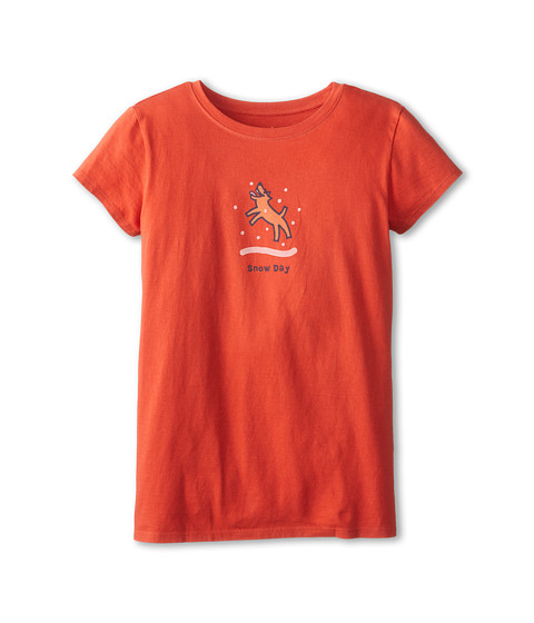 Life is good Kids - Snow Day Rocket Easy Tee (Little Kid/Big Kid) (Chili Red) Girl's T Shirt
