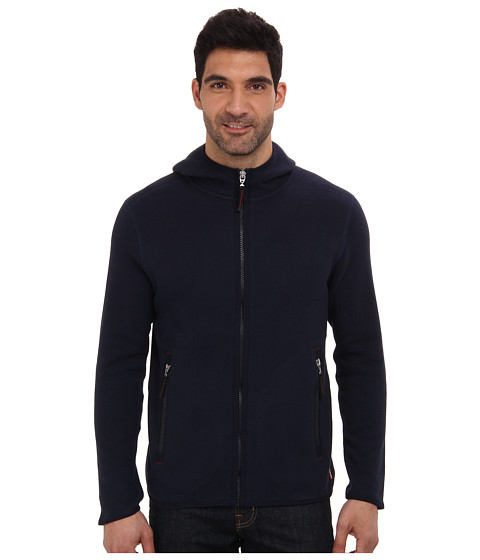 Tommy Bahama - Island Modern Fit Hood River Full Zip Hoodie (Blue Note) Men's Clothing