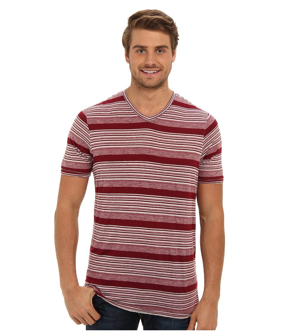 Tommy Bahama - Vista Del Mar V-Neck T-Shirt (Berry) Men's Short Sleeve Pullover