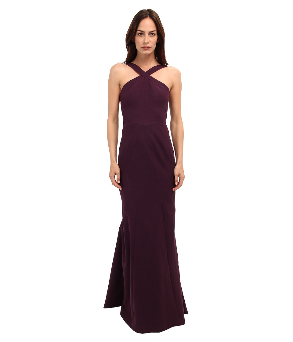 Zac Posen - Cross Strap Mermaid Gown (Amethyst) Women's Dress