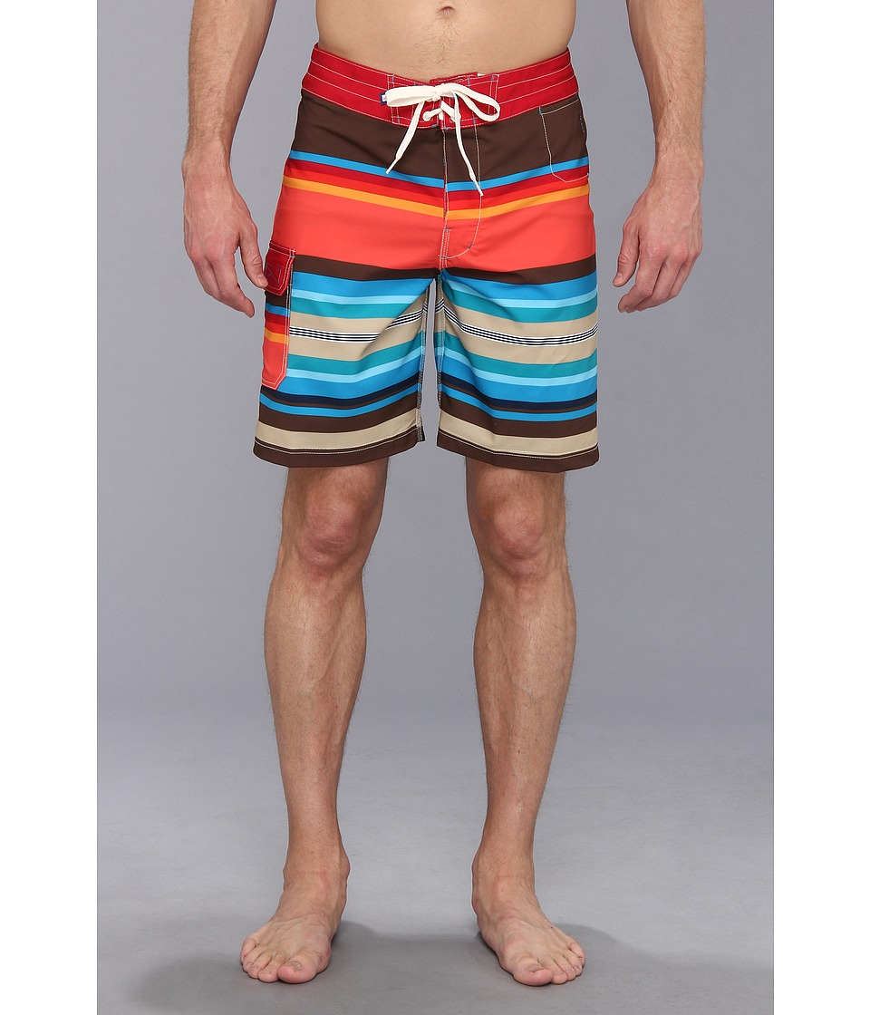 Sperry Top-Sider - Santa Monica Stripe 19 Boardshort (Multi) Men's Swimwear