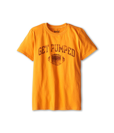 Life is good Kids - Get Pumped Football Easy Tee (Little Kid/Big Kid) (Curry Gold) Boy's T Shirt