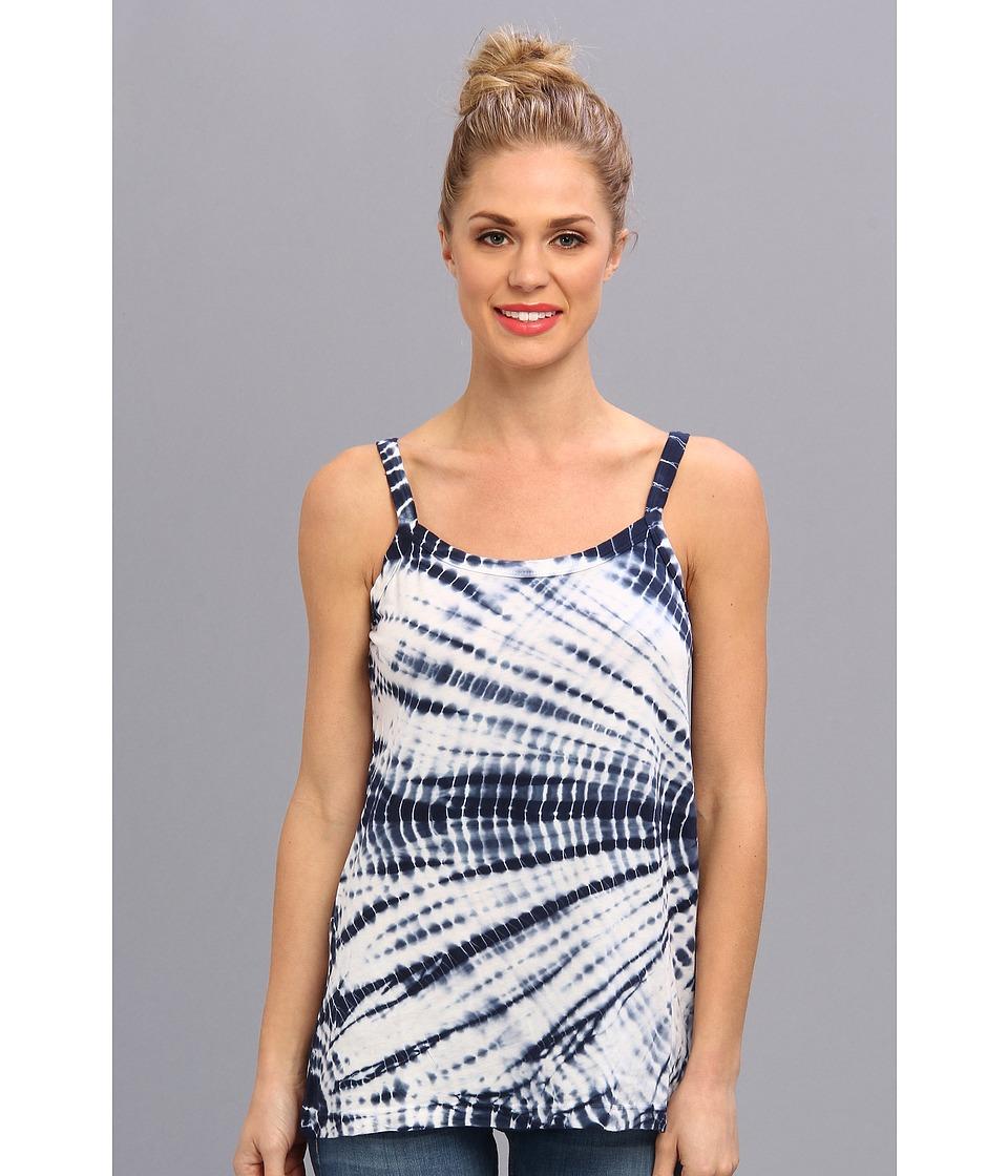 Allen Allen - Tie Dye Tank (Lapis) Women's Sleeveless
