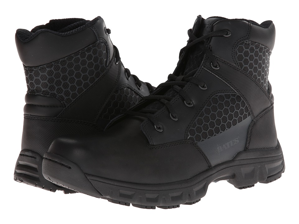 Bates Footwear - Code 6 - 6 Side Zip (Black) Men's Work Boots