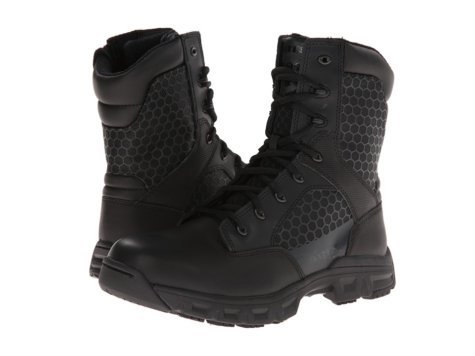 Bates Footwear - Code 6 -8 Side Zip (Black) Men's Work Boots