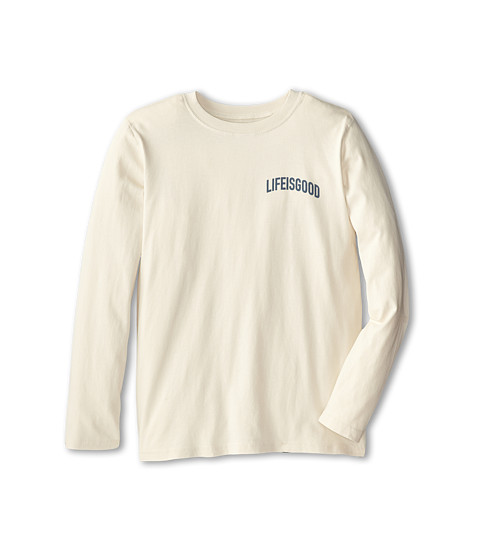 Life is good Kids - XLarge Hockey Shot Easy Long Sleeve (Little Kid/Big Kid) (Putty White) Boy's Long Sleeve Pullover