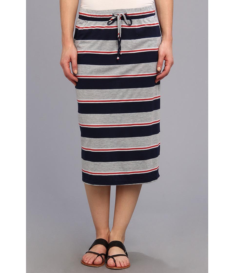 Allen Allen - Stripe Skirt (Lapis) Women's Skirt