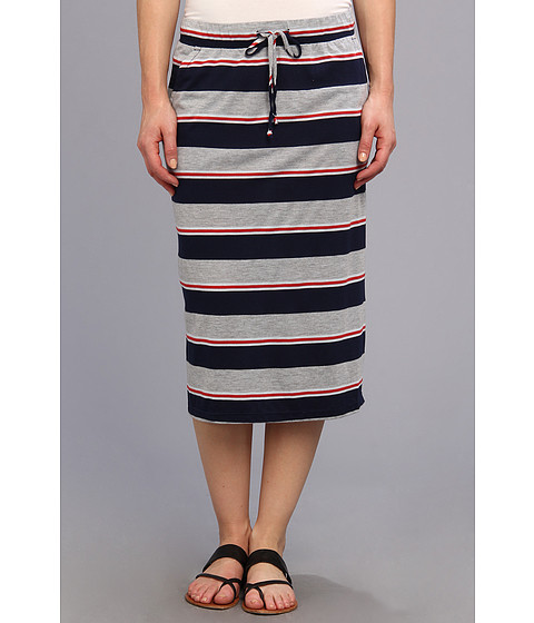 Allen Allen - Stripe Skirt (Lapis) Women