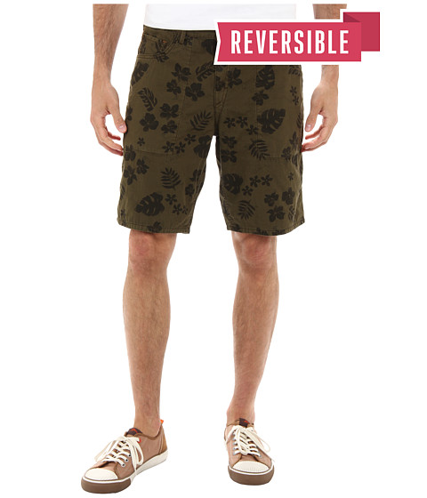 Tommy Bahama Denim - Brooklyn Double Weave 10 Reversible Shorts (Curry Leaf) Men's Clothing
