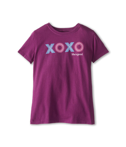 Life is good Kids - XOXO TD Easy Tee (Toddler) (Perfect Plum) Girl's Short Sleeve Pullover