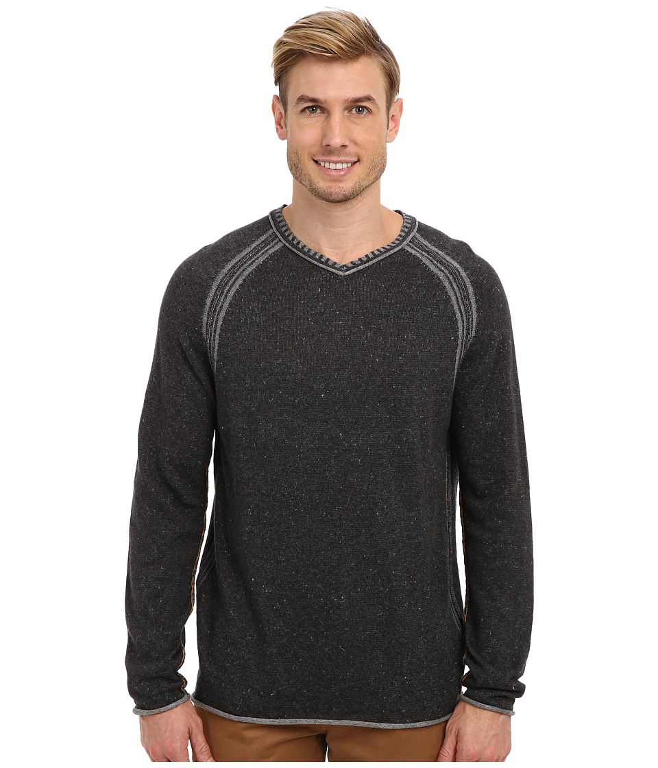 Tommy Bahama - Essex V-Neck Sweater (Ash Grey) Men's Long Sleeve Pullover