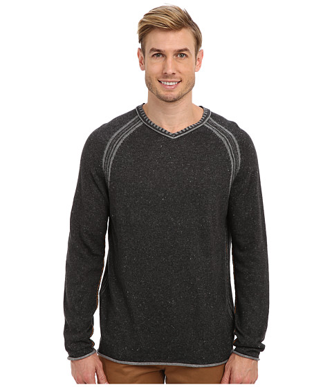 Tommy Bahama Denim - Essex V-Neck Sweater (Ash Grey) Men's Long Sleeve Pullover