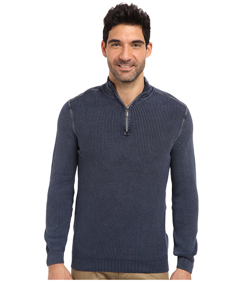 Tommy Bahama Denim - East River Half Zip Sweatshirt (Blue Note) Men