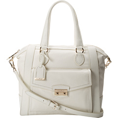 SALE! $199.99 - Save $198 on Cole Haan Zoe New Structured Satchel (Ivory) Bags and Luggage - 49.75% OFF $398.00
