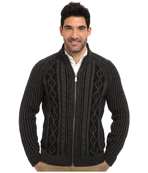 Tommy Bahama Denim - Bridgedeck Full Zip Sweater (Black) Men