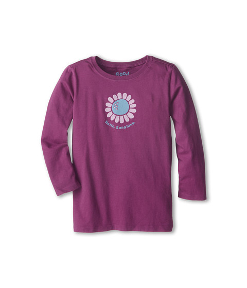Life is good Kids - Hello Sunflower Easy Long Sleeve (Toddler) (Perfect Plum) Girl's Long Sleeve Pullover