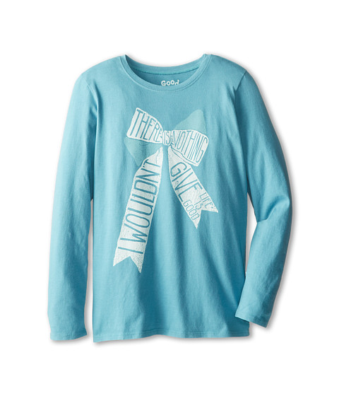 Life is good Kids - There is Nothing I Wouldn't Give Easy Long Sleeve (Little Kid/Big Kid) (Turquoise Blue) Girl's Long Sleeve Pullover