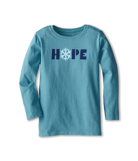 Life is good Kids - Hope Easy Long Sleeve (Toddler) (Turquoise Blue) Kid's T Shirt
