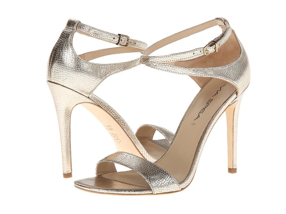 Via Spiga - Tiara (Platinum Metallic Lizard Print) Women's Shoes