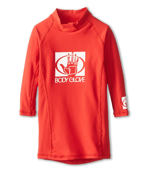 Body Glove - Basic L/A Rashguard (Little Kid/Big Kid) (Red) Swimwear