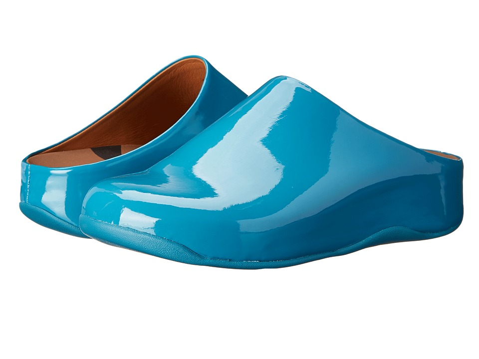 FitFlop - Shuv Patent (Pagoda Blue) Women's Clog Shoes