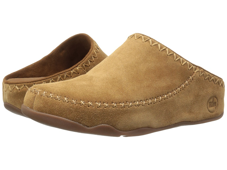 FitFlop Gogh Moc Makizin Chestnut Womens Clog Shoes
