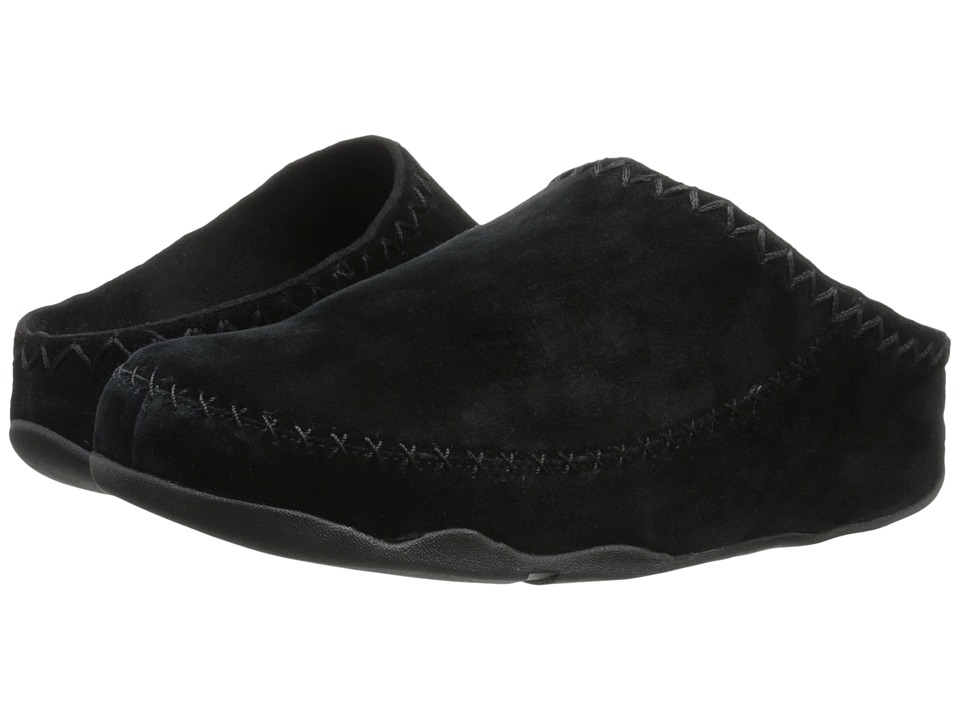 FitFlop Gogh Moc Makizin All Black Womens Clog Shoes