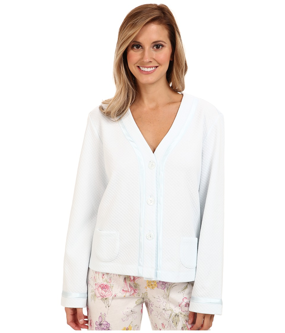 Carole Hochman - Essentials Bed Jacket (Lake Blue) Women's Pajama