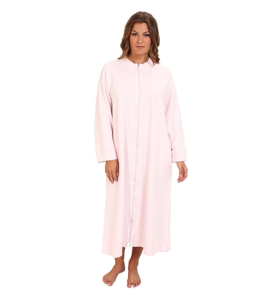 Carole Hochman - Plus Size Zip Front Robe (Twinkle Pink) Women's Robe plus size,  plus size fashion plus size appare
