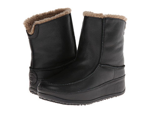 FitFlop - Mukluk Moc 2 (Leather) (Black) Women's Boots