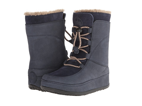 FitFlop - Mukluk Moc Lace Up (Supernavy) Women's Lace-up Boots