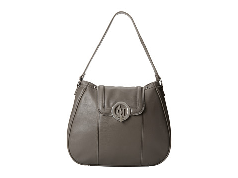 Armani Jeans - Saffiano Shoulder Bag (Grey) Shoulder Handbags