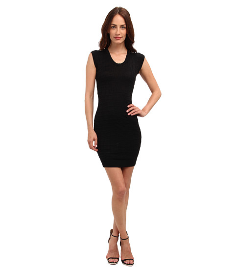 Just Cavalli - Body-Con Sweater Dress (Black) Women's Dress