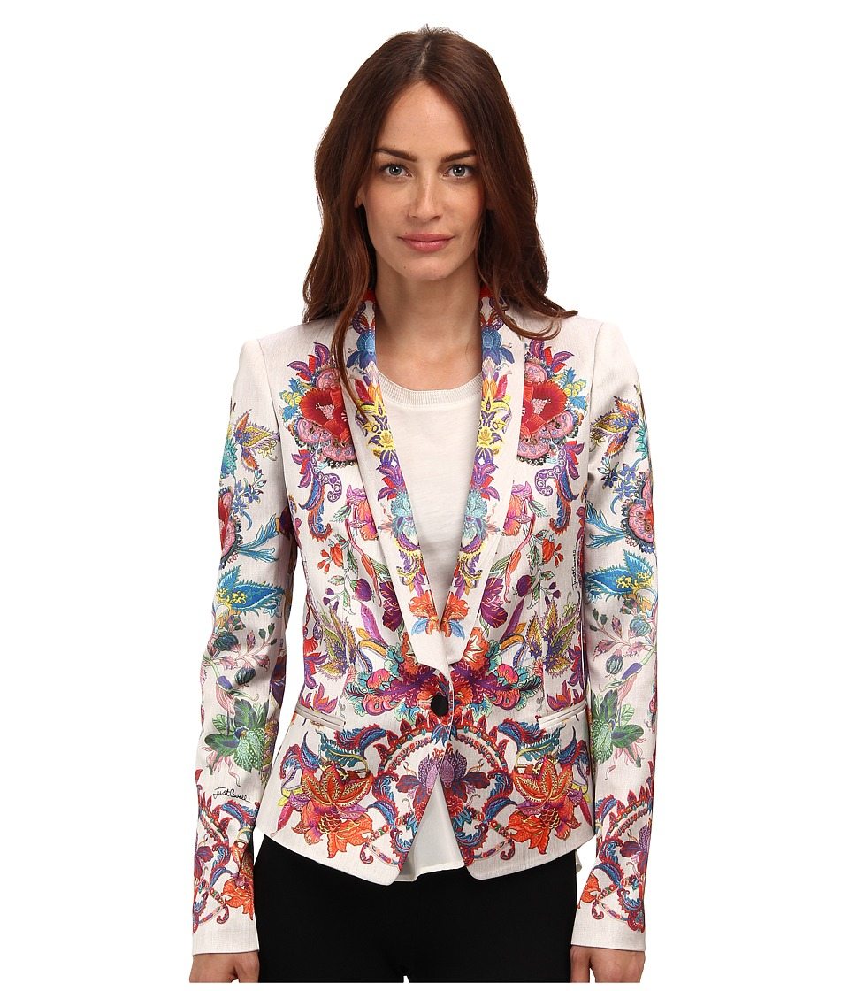 Just Cavalli - S02BN0057 (Off/White) Women's Jacket