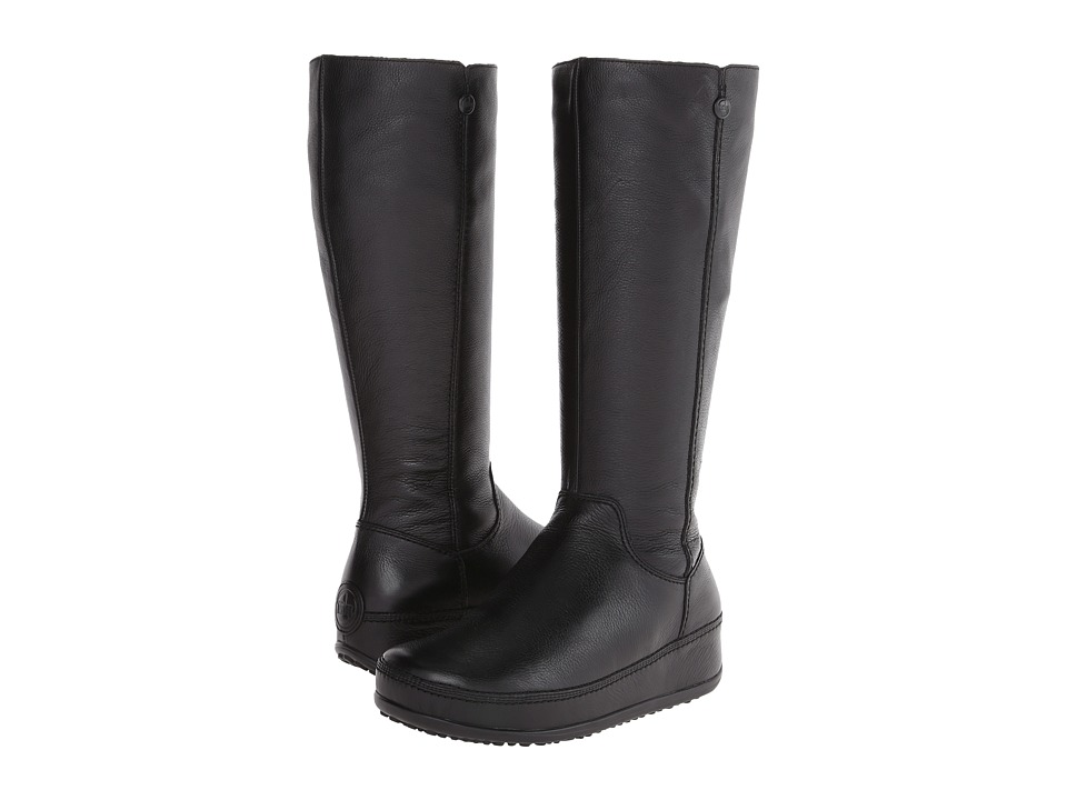 f35d363defb2a Fitflop Superboot Tall Leather Black