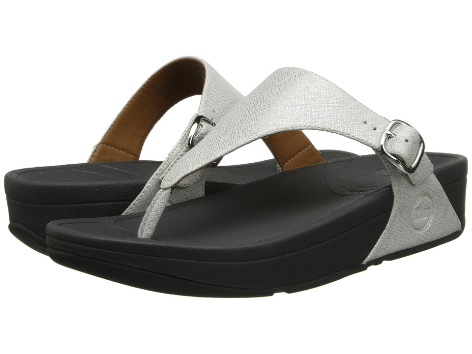 FitFlop - The Skinny Deluxe (Silver) Women's Sandals