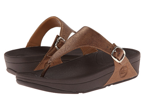 FitFlop - The Skinny Deluxe (Bronze) Women's Sandals
