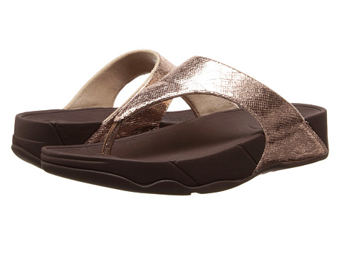 FitFlop - Lulu Lustra (Rose Gold) Women's Sandals